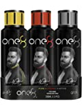 One 8 by Virat Kohli INTENSE + PURE + ACTIVE Perfume Body Spray Set For Men