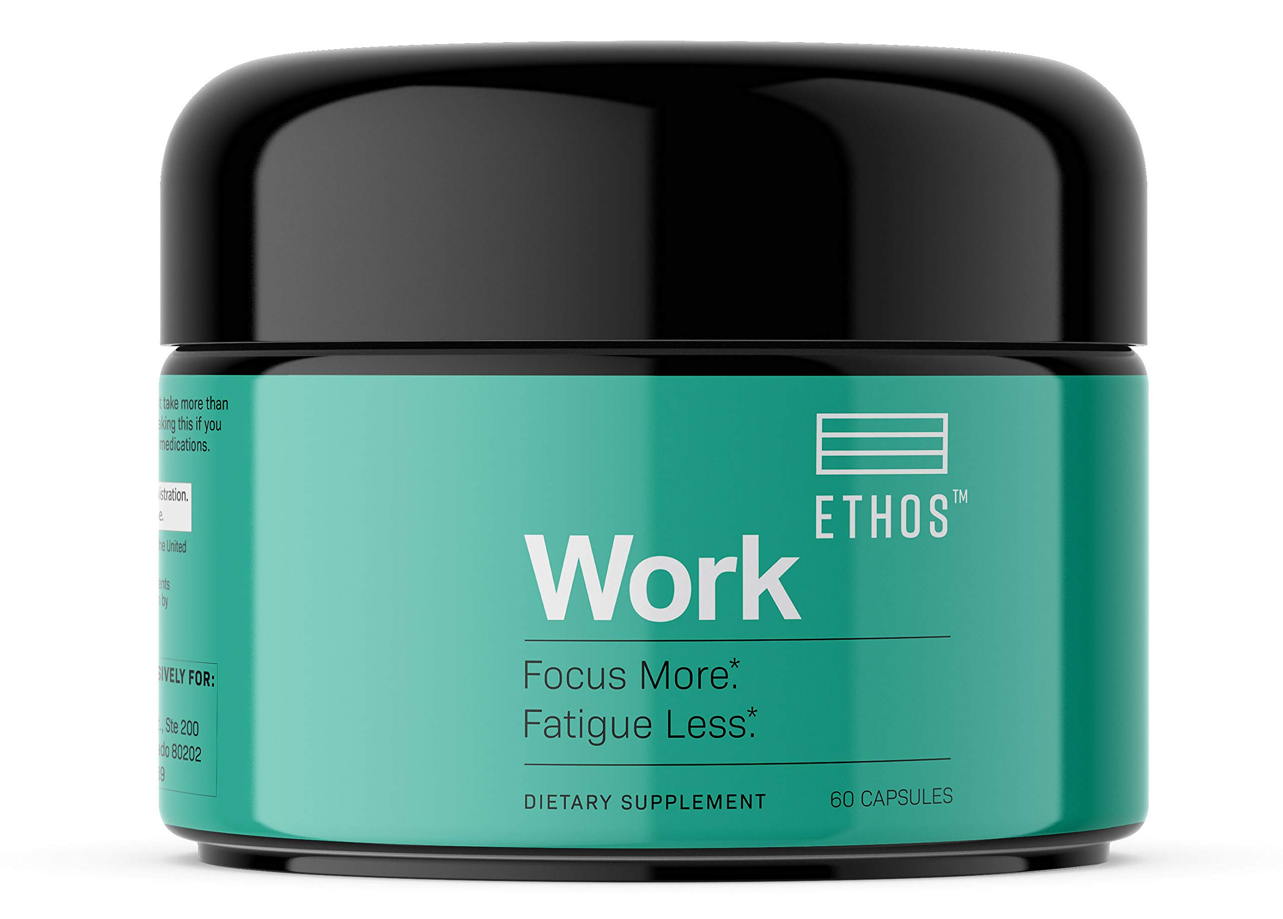 Ethos Work Nootropic Brain Supplement: Supports Mental Clarity, Memory, Energy, Cognition, Focus, Concentration and Brain Health. by Ethos
