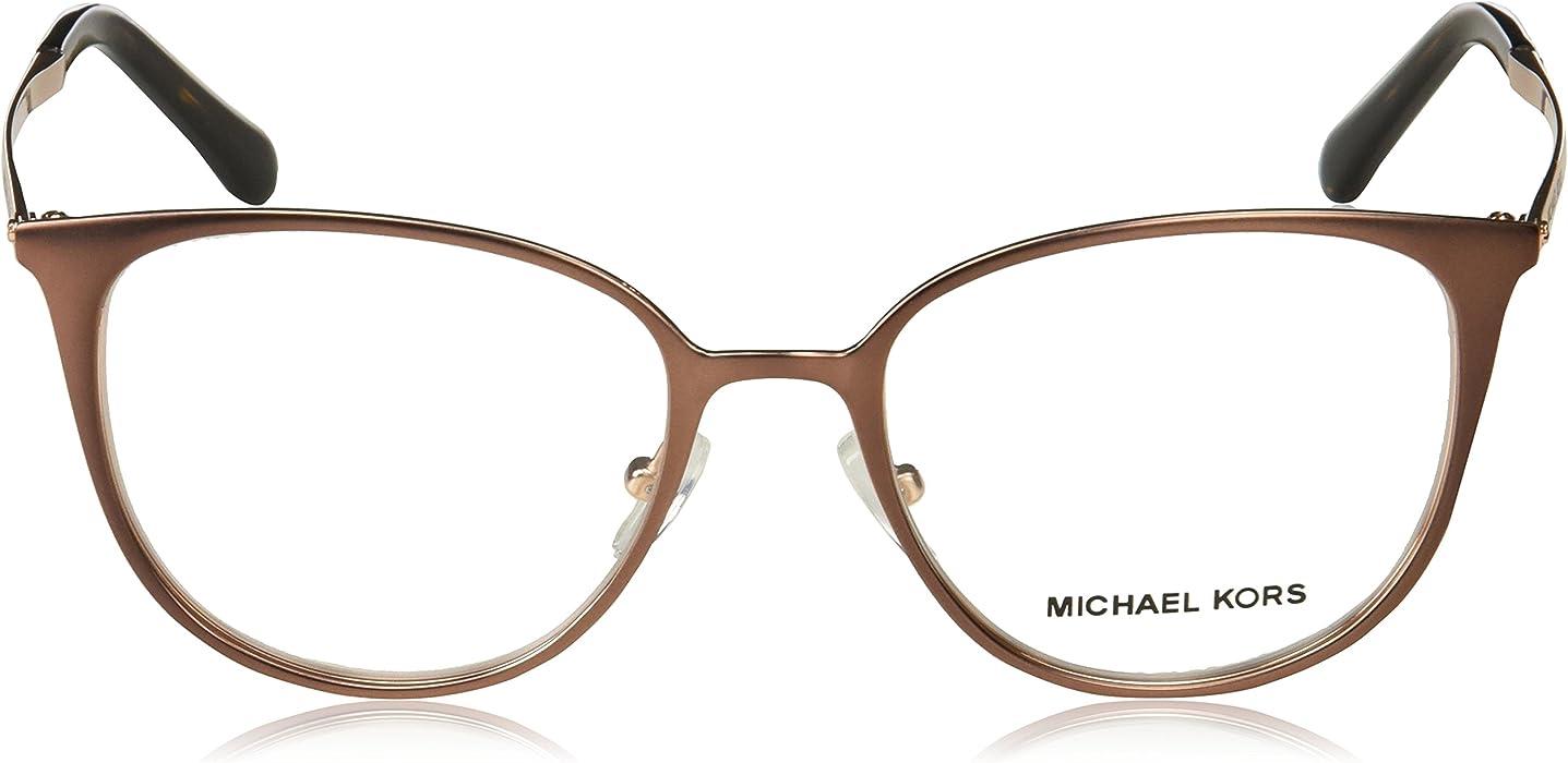 08aaa41e47 Eyeglasses Michael Kors MK 3017 1188 SATIN BROWN ROSE GOLD-TONE at ...