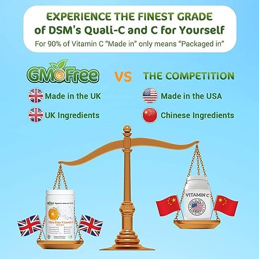 Amazon.com: Polvo de Vitamina C, L Ascorbic Acid, Non OGM ...