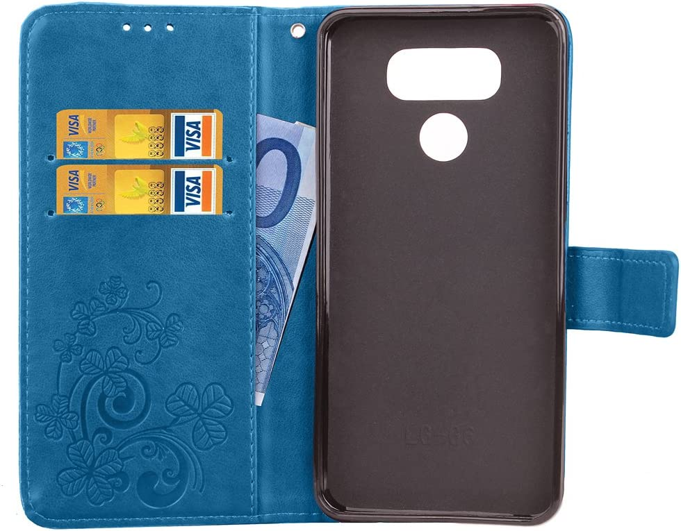 H870 Custodia a Libro Pelle Porta Carte Chiusura Magnetica Antiurto Flip Wallet Case per LG G6 - LOSDA040983 Blu Lomogo Cover LG G6 // G6 Plus Portafoglio
