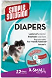 Simple Solution Disposable Diapers, X-Small, 12-Count (Pack of 2)