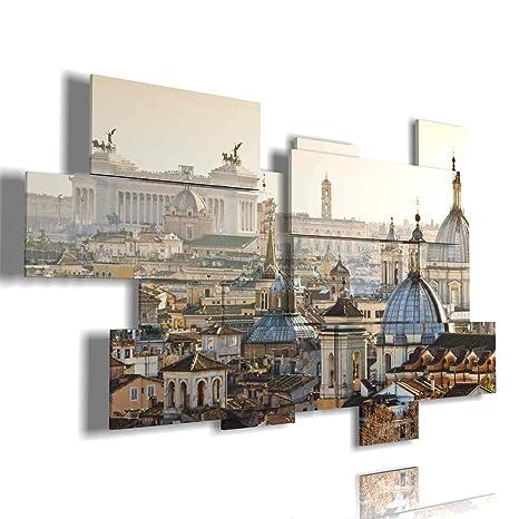 duudaart Quadro Moderno Roma - panoramica multilivello 3D ...