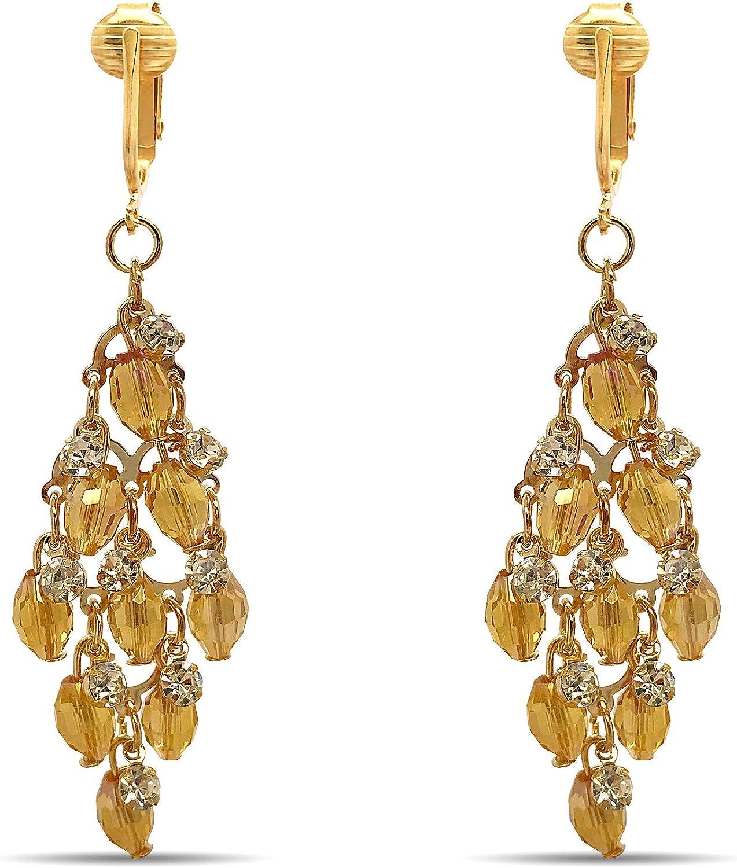 Aloha Earrings Crystal Clip...