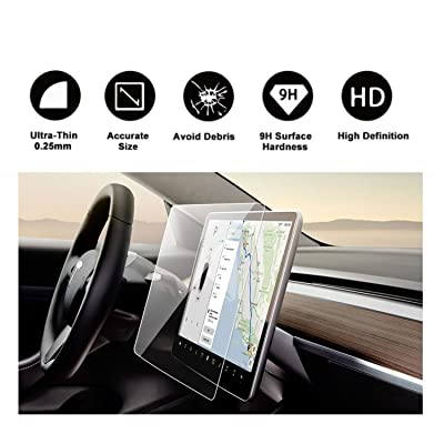 """Tesla Model 3 Model Y 15\"""" Center Control Touchscreen Car Navigation Tempered Glass Touch Screen Protector, P50 P65 P80 P80D Accessories 9H Anti-Scratch [5Bkhe1514318]"""