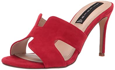 5585ad8c01504 Steve Madden Women''s Nylah Red Suede Dress Open 8 US