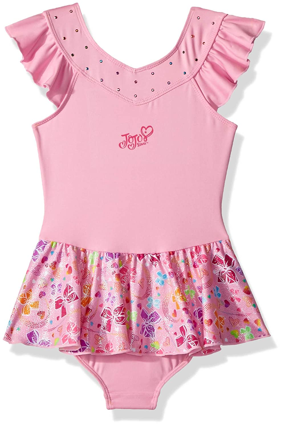 Jojo Siwa By Danskin Girls Big Rainbow Bows Dance Dress