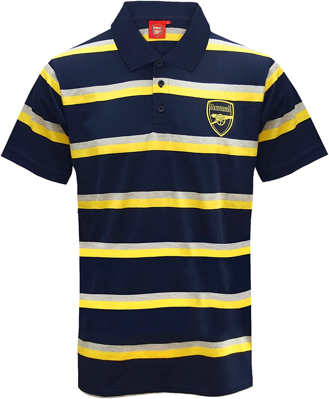 Arsenal FC - Polo oficial para hombre - A rayas - Azul marino ...
