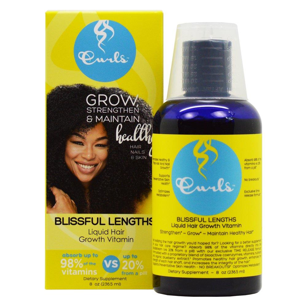Amazon Curls Blissful Lengths Liquid Hair Growth Vitamin 8 Oz