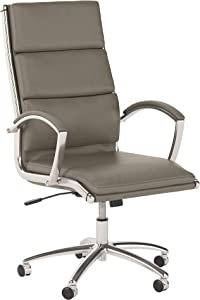 Bush Business Furniture Office by kathy ireland Method High Back Executive Chair, Washed Gray Leather