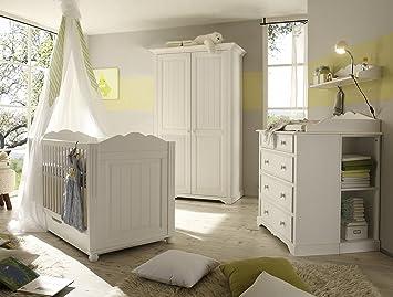 Massivholz Babyzimmer Set Cinderella Premium Bestehend Aus 2 Turigem