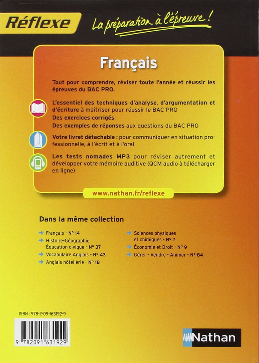 Français Bac Pro (Réflexe): Amazon.es: Luc Biencourt, Véronique Bourguignon, Christine Williame: Libros en idiomas extranjeros