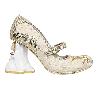 Irregular Choice I Love You Gold Retro Vintage Character Heels Wedding Shoes
