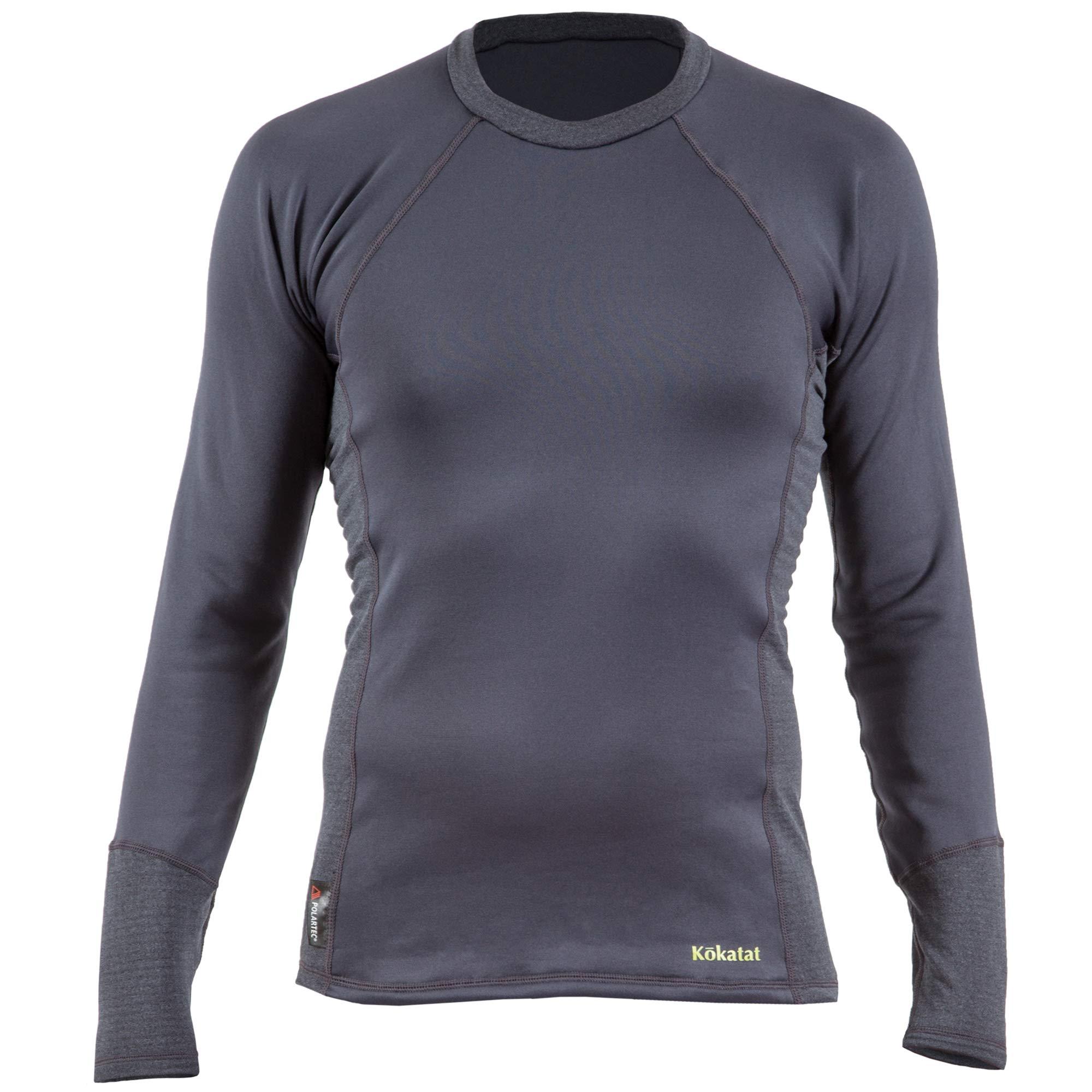 Kokatat Men's Polartec Power Dry Outercore Long Sleeve Shirt-Coal-XL by Kokatat