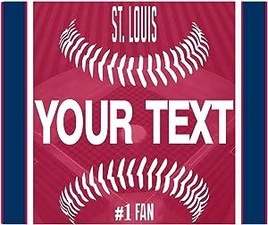BleuReign(TM) Personalized Custom Name Baseball St. Louis Square Refrigerator Fridge Magnet