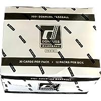 $129 » MLB Panini 2021 Donruss Baseball Trading Card VALUE Box [12 Packs]