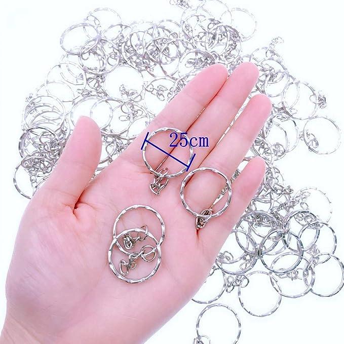 JZK 100 X Anilla de llavero anillas llaveros anillo de llavero con ...