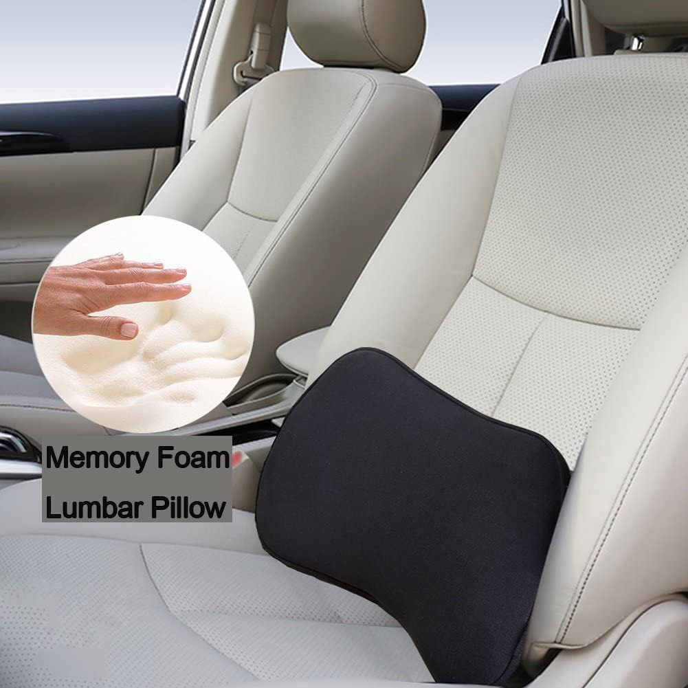 Big Hippo Multi-Use Lumbar Support Pillow- Orthopedic Design Sciatica Pain Relief Memory Foam Support Pillow Perfect for Car,Home, Office