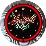 Neonetics Hot Rod Garage Neon Wall Clock, 15-Inch