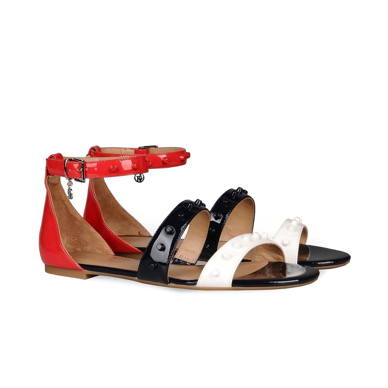 218e021f6b661 AJ Armani Jeans C5549 Sandale Femme Cuir Rouge 37  Amazon.fr  Chaussures et  Sacs
