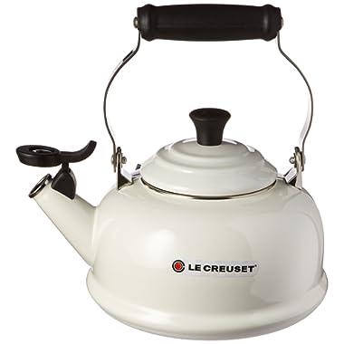 Le Creuset Q3101-16 Enamel-on-Steel Whistling 1-4/5-Quart Teakettle, White, 1-4/5
