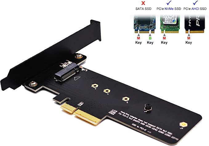 EZDIY-FAB PCI Express M.2 SSD NGFF Tarjeta PCIe a PCIe 3.0 x4 ...