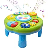 Baby Toys Musical Learning Table 12x12x7inch Music Activity Center Table Toys for Infant Babies Toddler Kids Boys Girls 6-18