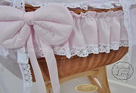 NEW Ophelia Uno Star Rocker Antique Rosa Stube carro Wicker Crib de alanel