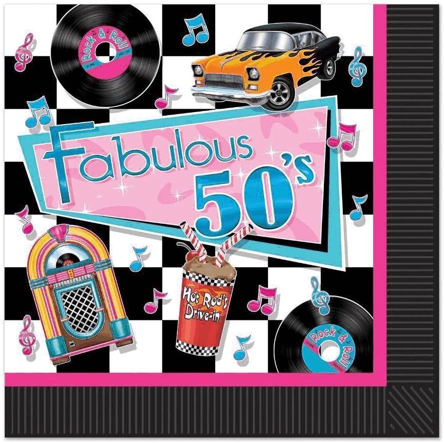 Beistle 58135 Fabulous 50s Luncheon Napkins The Beistle Company