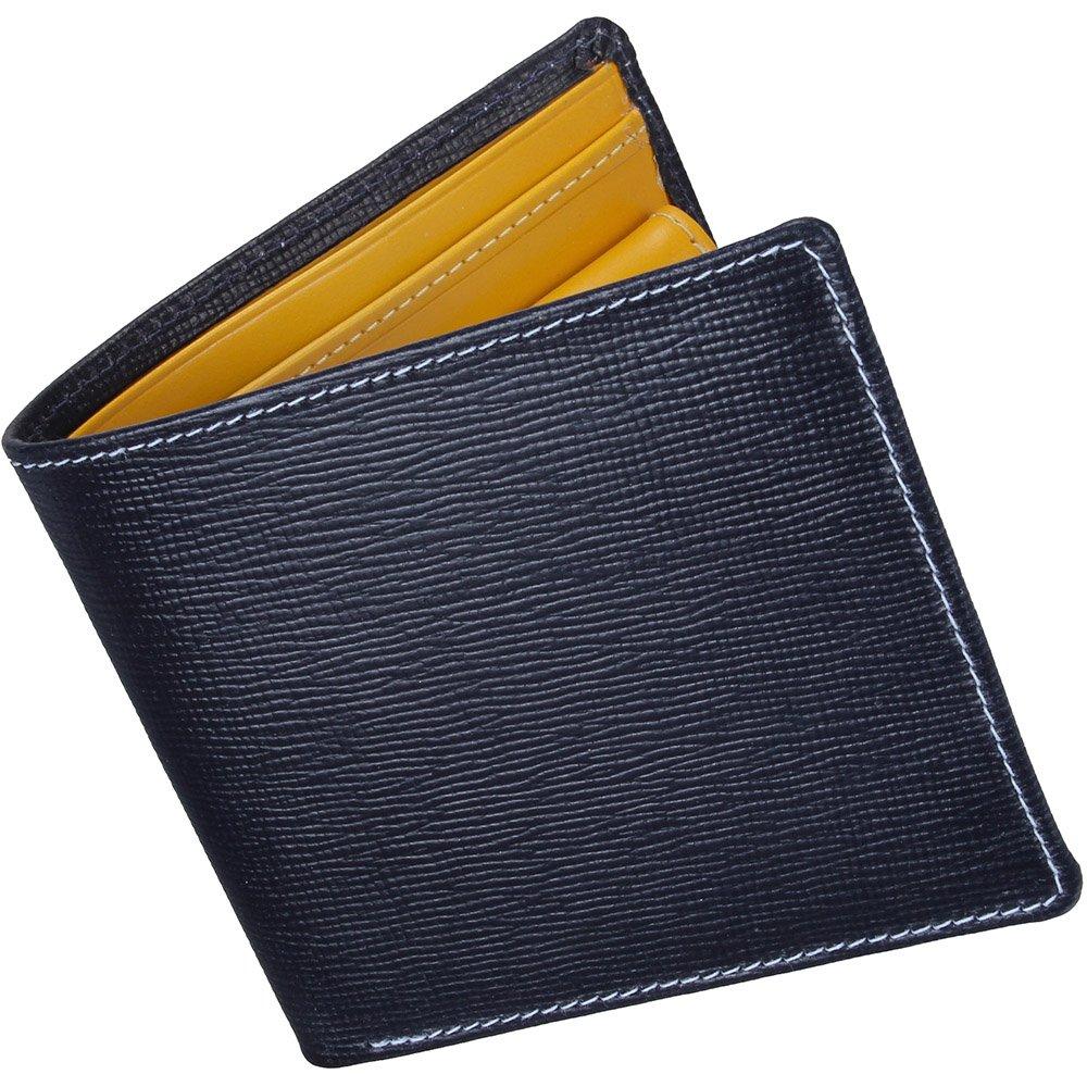 ホワイトハウスコックス(Whitehouse Cox) リージェントブライドル S7532 二つ折り財布 【正規販売店】 B019H2K44Iネイビー/イエロー