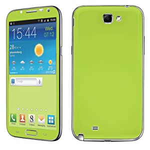 Samsung [Galaxy Note 2] Skin [NakedShield] Scratch Guard Vinyl Skin Decal [Full Body Edge] [Matching WallPaper] - [Apple Green] for Samsung Galaxy [Note 2]