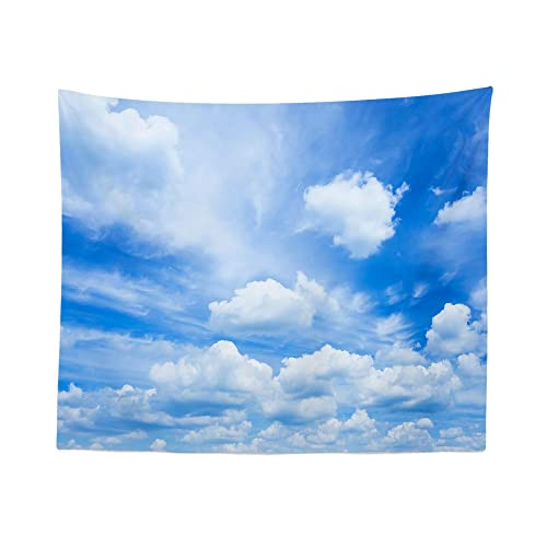 Sky Tapestry Wall Hanging Clouds Cloudy Blue Tapestries Dorm Room Bedroom Decor Art – Printed in the USA – Small to Giant Sizes