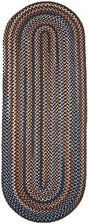 product image for Rhody Rug Augusta Braided Wool Runner Rug (2' x 8') Black