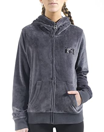 NGX Womens Chaqueta Tiger Zip-Up Hoodie, Charcoal, Small