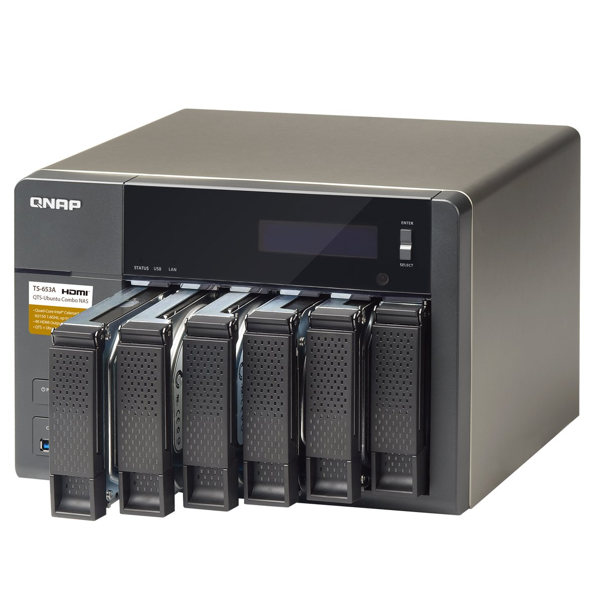 QNAP TS-653A (8GB RAM version) 6-Bay Professional-Grade Network Attached Storage, Supports 4K Playback (TS-653A-8G-US) by QNAP (Image #2)