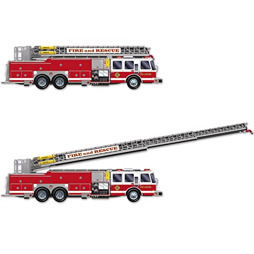 Beistle Fire Truck with Jointed Ladder Cutout, 5-Feet