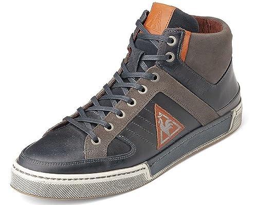 Le Coq Sportif - Zapatillas de caña alta de cuero hombre, color azul, talla 42: Amazon.es: Zapatos y complementos