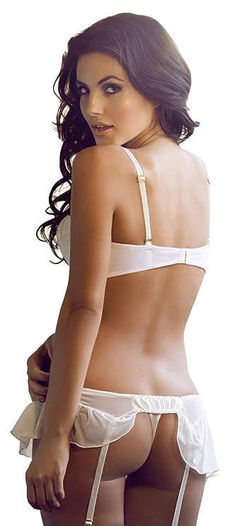 Besame - Cinturón - Sin mangas - para mujer Blanco blanco Small: Amazon.es: Ropa y accesorios