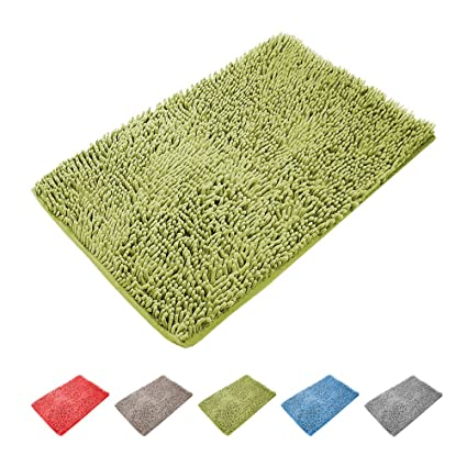 kzkr antideslizante alfombrillas de baño absorbente suave alfombra ...