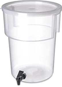 Carlisle 220930 Break-Resistant Beverage Dispenser, 5 Gallon, Clear