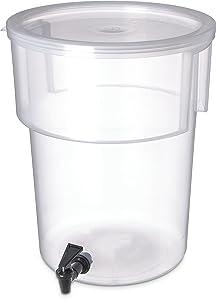 Carlisle 220930 Break-Resistant Beverage Dispenser, 5 Gallon, Clear