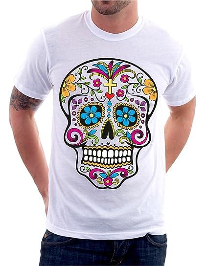 Tshirteria - Camiseta de calavera mexicana Old School Tattoo Skull ...