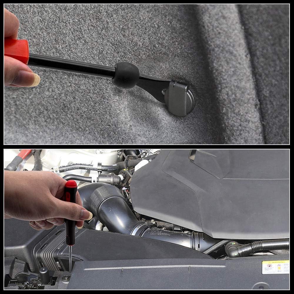 BeiLan 63Pcs Outils Demontage Garniture Auto Car Trim Removal Tool Kit Outils de Suppression pour Voiture Porte Panneau Tableau de Bord