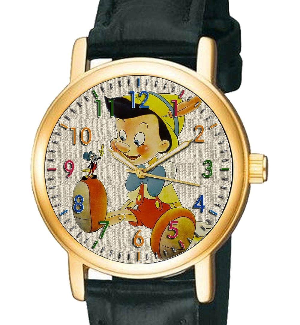 Impresionante Vintage Comic Art pinocho y Pepito Grillo Coleccionable niños reloj de pulsera...: Amazon.es: Relojes