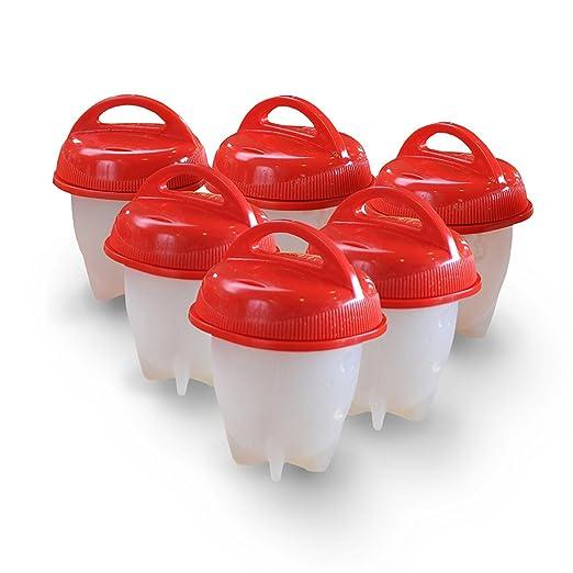 egglettes – duro hervir huevos sin la shell – Pack de 6 Plus un ...