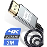4K HDMI Cable 10ft,[Upgraded] High Speed HDMI Lead 2.0 Cable Ultra 18Gbps 4K@60Hz Supports Video UHD 2160p,HD 1080p, 3D,Ether