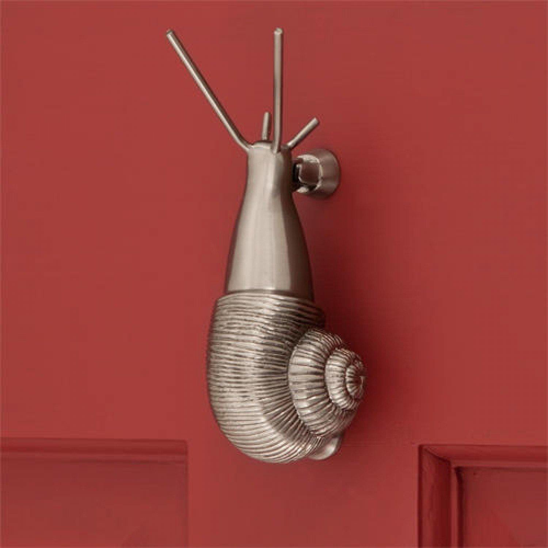 Casa Hardware Brass Snail Doork Knocker - Brushed Nickel
