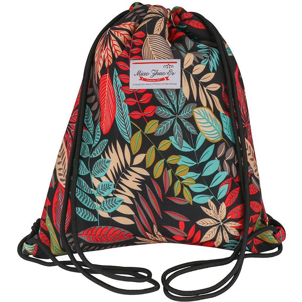 新品本物 peicees DrawstringバックパックキャンバスGymsack巾着バッグスポーツSackpack旅行学校バックパックメンズレディースボーイズ Leaf、ガールズ B07B9NTDNQ Leaf 1 peicees 1 Leaf 1, PALAU JUNCTION:61077fd1 --- ballyshannonshow.com