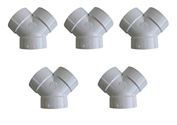 5 Central Vacuum Cleaner Short Y WYE 3 Fittings For All Central Vacuum Systems Including  sc 1 st  Amazon.com & Amazon.com: 5 Central Vacuum Cleaner Short Y WYE 3 Fittings For All ...
