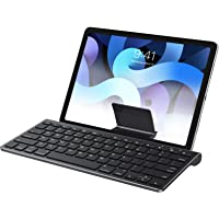 OMOTON Keyboard Compatible with iPad(Sliding Stand), Wireless Bluetooth Keyboard for iPad Air 4, iPad 10.2(8th/ 7th Gen…
